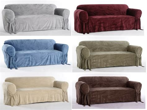 Loveseat Slipcover by Microfiber Plush Velvet Sofa Loveseat Arm Chair Covers