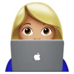 woman technologist medium light skin tone emoji uf