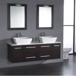 19 Inch Deep Bathroom Vanity Top by Cambridge 63 Inch Solid Wood Porcelain Double Sink Vanity Set