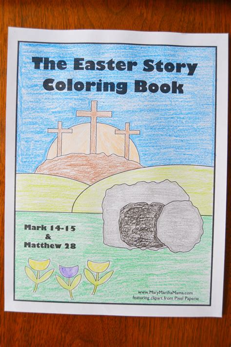easter story coloring book mary martha mama
