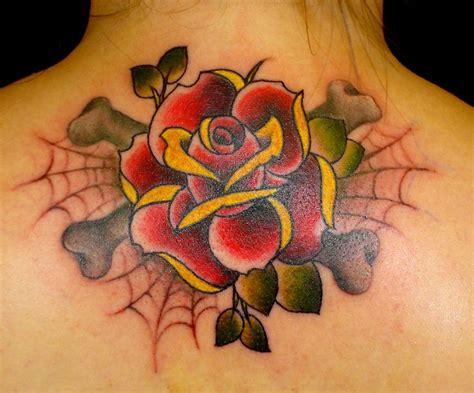 48+ Beautiful Old School Flowers Tattoos