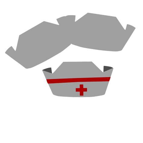 nurse cap shape card  template cricut critter