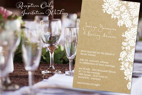 reception  invitation wordingreception  invitation
