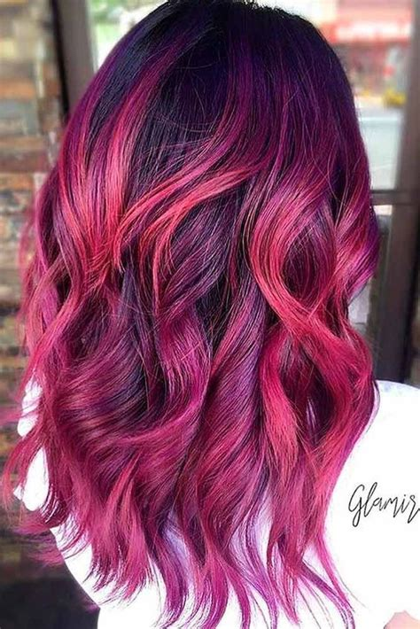 21 Loveliest Magenta Hair Color Ideas Mermaid Hair