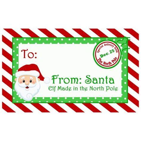 amazoncom santa claus north pole christmas gift tags set