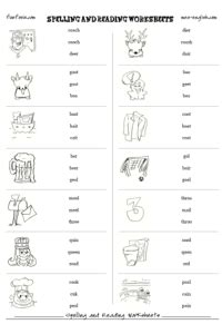 spelling  phonics worksheets