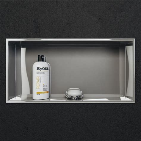 Stainless Steel Recessed Wall Mounted Shower Niche in