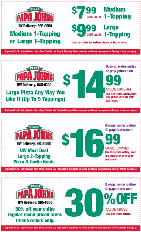 97834 Eco Coupon Code by Discount Code Papa Johns Best Deals