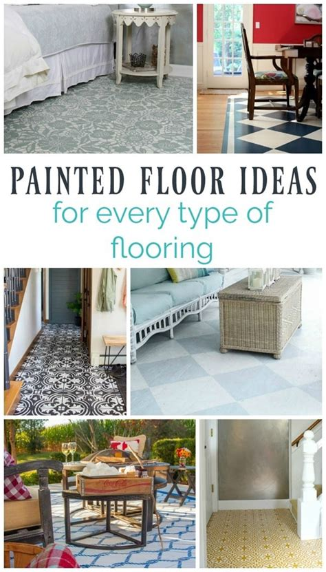 15 gorgeous painted floors ideas for every type of