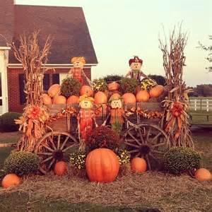 Fall Wagon Decorations by Fall Wagon Decor Thanksgiving Pinterest