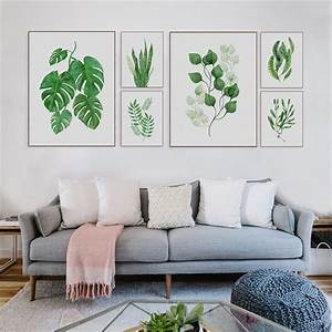 1pc, Tropical, Plant, Art, Print, Poster, Nordic, Green, Leaf, Wall, Painting, For, Living, Room, Home, Decor