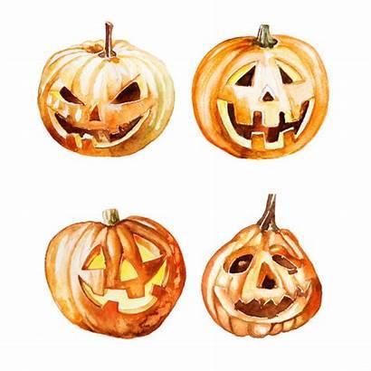 Watercolor Clipart Pumpkin Halloween Premium Isolated