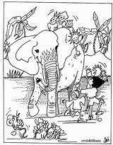 Coloring African Animals Africa Animal Wild Safari Children Clipart Printable Library Childrens Popular Dragon Clip Elephant Coloringhome Tallennettu Täältä sketch template