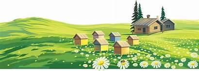 Rural Areas Pemandangan Clipart Cartoon Farm Landscape