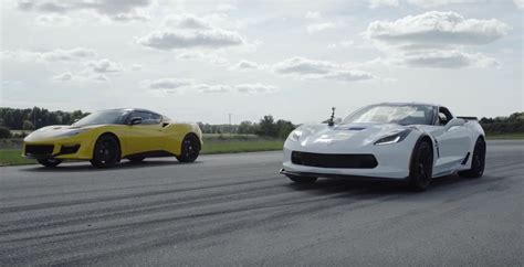 siege lotus corvette grand sport takes on lotus evora 400 in