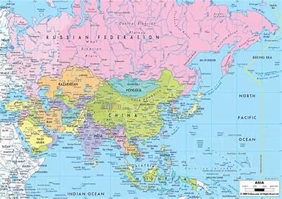 Map Asia Maps Political Asian Ezilon Countries