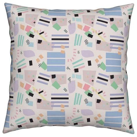 postmodern   memphis milano geometric throw pillow