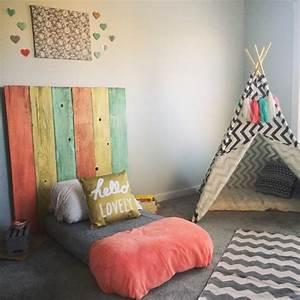Lit Cabane Au Sol : 1001 id es pour am nager une chambre montessori ~ Premium-room.com Idées de Décoration