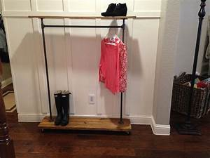 Buy, Custom, Industrial, Urban, Garment, Rack, With, Top, Shelf, Made, To, Order, From, Edna, Faye, Creations