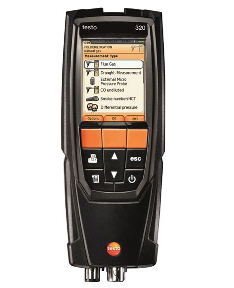 only testo testo 320 flue gas analyser standard set gas flue