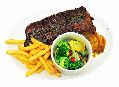 Plate Transparent Fries French Dinner Meat Breakfast