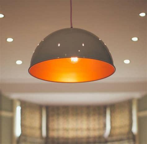 orange pendant lights kitchen frank spun large pendant light by glow lighting 3765