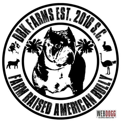 dbk farms farm raised american bully logo webdogg