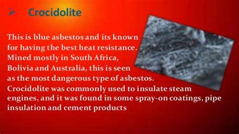 presntation  asbestos fiber textile raw materials