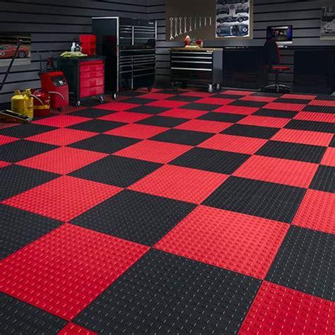 checkered garage floor tiles techfloor premium garage floor tile traction tiles garage