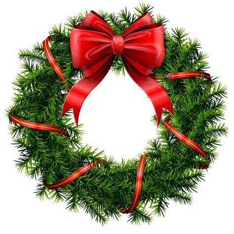 merry christmas wreath clipart clipart suggest