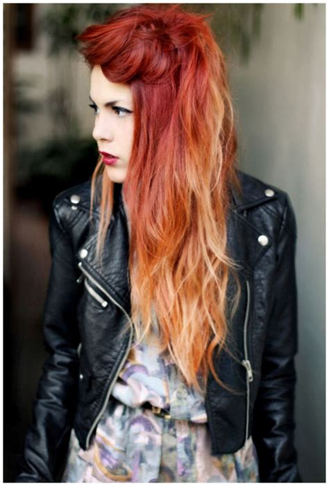 546 Best Images About Fire Red Orange Ombre Hair On