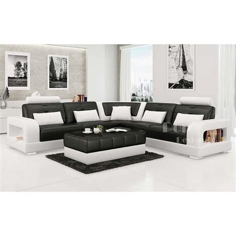 canape d angle luxe canapé d 39 angle design en cuir salerno xl pop design fr