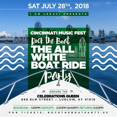 Rock The Boat Event by Tickets For Rock The Boat 2018 All White Boat Ride Day
