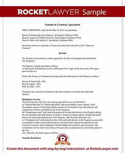 Tenants in common agreement form template with sample for Tenants in common agreement template