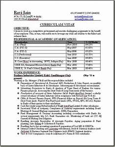 ca professional resume format free download With sample resume for ca articleship training