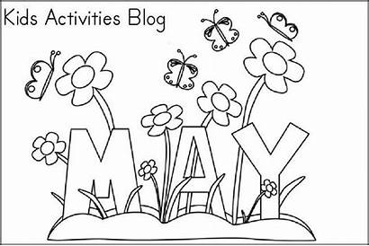 Coloring Pages Printable Month Sheets Activities Spring