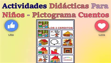 Actividades Didácticas Para Niños  Pictogramas Cuentos