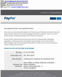Paypal Zahlung Nicht Möglich : paypal phishing verd chtige zalando zahlung erkannt ware an haken baskan schicken mimikama ~ Eleganceandgraceweddings.com Haus und Dekorationen