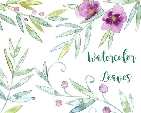 buy    usd watercolor floral leaves leaf