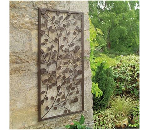 garden climbing wall panel ornamental bronze