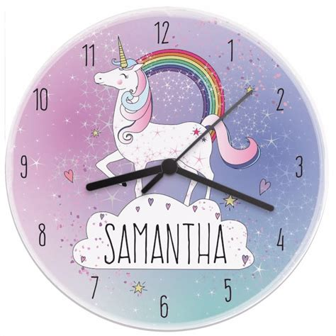 unicorn wooden clock love unique personal