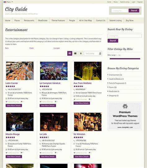 templatic city guide wordpress theme