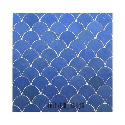 blue moroccan fish scales bathroom tile