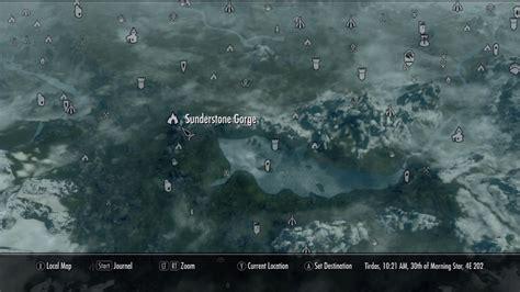 sunderstone gorge elder scrolls skyrim wiki guide