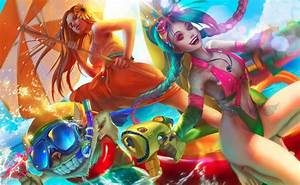 Pool party | League of legends | League of legends, Lol ...