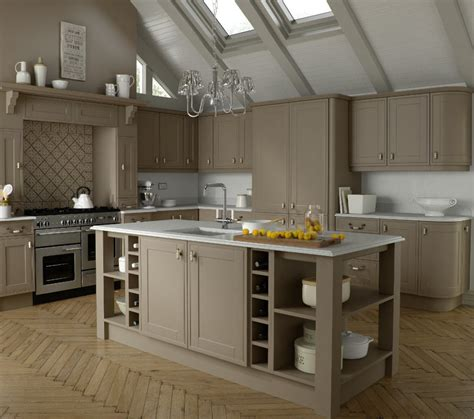 stone grey acrylic shaker kitchen eco bradford