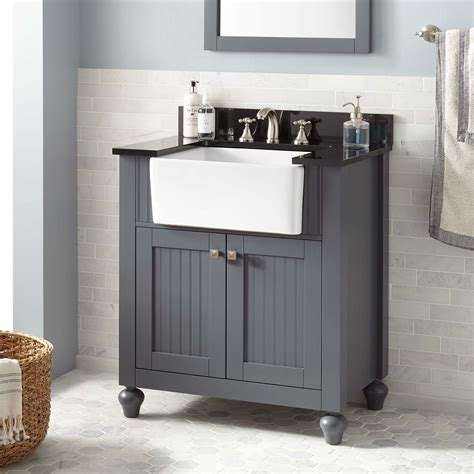 Bathroom Vanity Farmhouse Sink by 30 Quot Nellie Farmhouse Sink Vanity Gray Bathroom