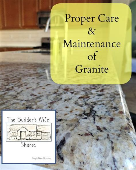 how to care for granite countertops proper care and maintenance of granite springcleaning