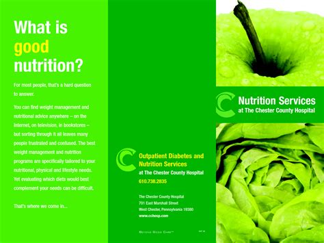 Content Heavy Brochure Template by Nutrition Brochure Template Besto Blog
