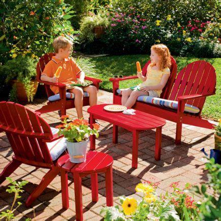 children s patio furniture kids outdoor furniture collection adirondack loveseat 11113 | 7806dcf34e3c8b8a7d691f354930957c